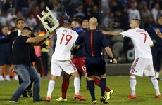 Branislav Ivanovic 'can't comprehend' the violent scenes during last night's Serbia v Albania qualifier