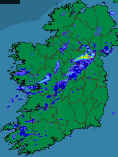 Met Éireann is warning that there may be some flooding today