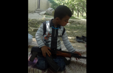 "Taliban toddler says he's going to use AK47 to ""shoot people"""