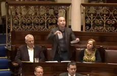 Watch: Paul Murphy tore up his Irish Water application form in the Dáil last night