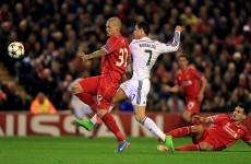 Ronaldo and Benzema both on the mark as Real blitz Liverpool at Anfield