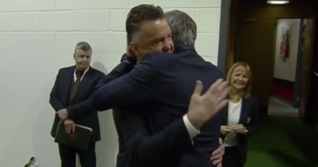 All of Sky's dreams come true as van Gaal and Mourinho hug before kick-off