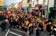 Austin Stacks fans completely took over Tralee before the Kerry SFC final yesterday