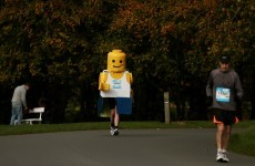 This legend is running the Dublin marathon in a Lego suit