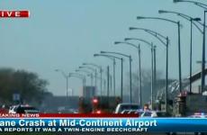 Small plane crashes at Kansas airport during take off