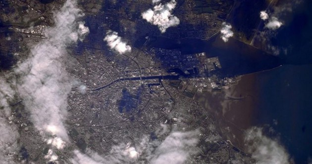 Here's what Dublin looks like from the International Space Station