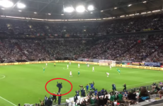 Your video of Roy Keane dancing a jig when Ireland equalised against Germany is here