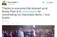 Tony Hawk just held an 'impromptu demo' in a Dublin skate park