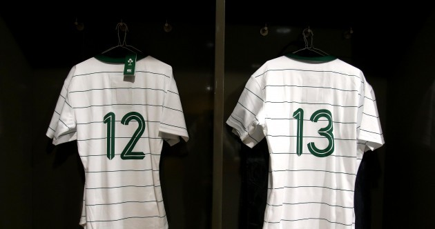 Snapshot: It's a big day for the men filling these jerseys at the Aviva Stadium