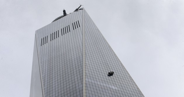 Two window cleaners rescued from outside the 69th floor of the new World Trade Center
