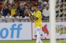 Neymar's bagged another international goal after a heat-seeking missile from Fernandinho