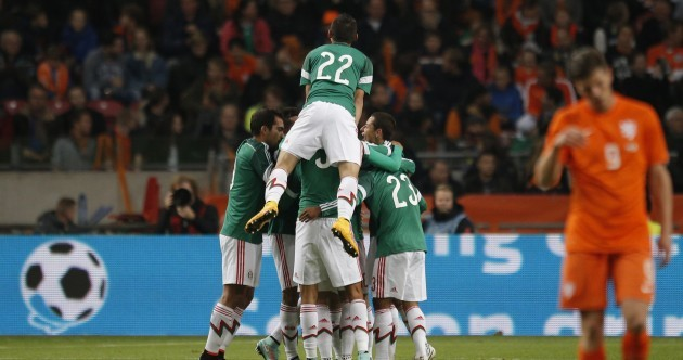 There were stunning goals (and one unbelievable miss) in Mexico's 3 - 2 win over Holland last night