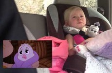 Little girl gets adorably emotional while watching The Chipmunks