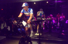 I just took a spin class taught by a pro cyclist and my heart almost exploded out of my chest