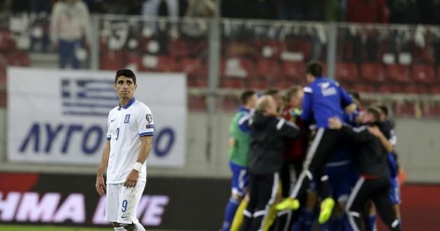 Northern Ireland lose 100% record, as Greece beaten 1-0 by Faroe Islands