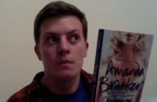 Amanda Brunker tweets video review of Amanda Brunker book by guy taking off Amanda Brunker at Oxegen.
