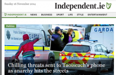 No, the Irish Independent didn't photoshop this picture of a protester throwing a brick