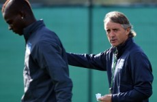 Mario Balotelli won't be teaming up with Roberto Mancini at Inter