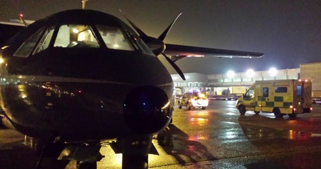 The Air Ambulance completed its 100th journey of 2014 over the weekend
