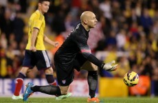 US keeper Guzan feels lucky to work under 'passionate' Keane