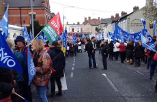 Nurses travel to Blackrock to protest against €150 registration fee