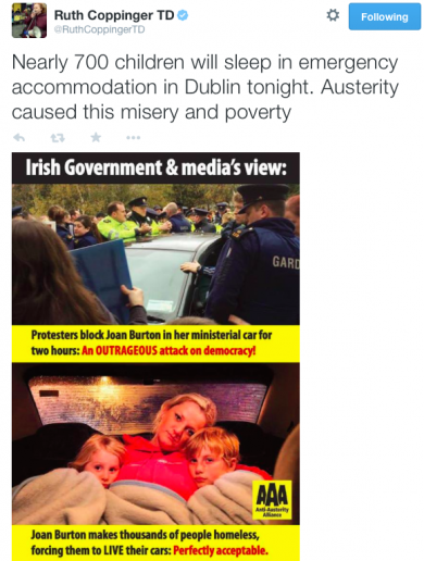 TD uses image of Australian family to highlight homelessness in Ireland