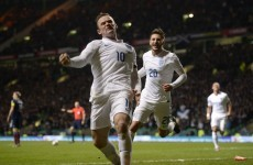Rooney at the double as England silence Scots