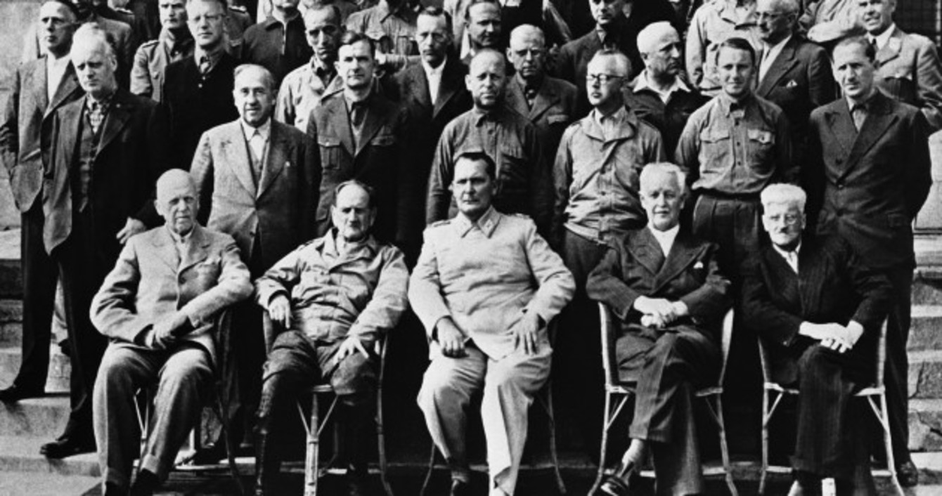 on this day in 1945 hitler s henchmen faced the nuremberg trial