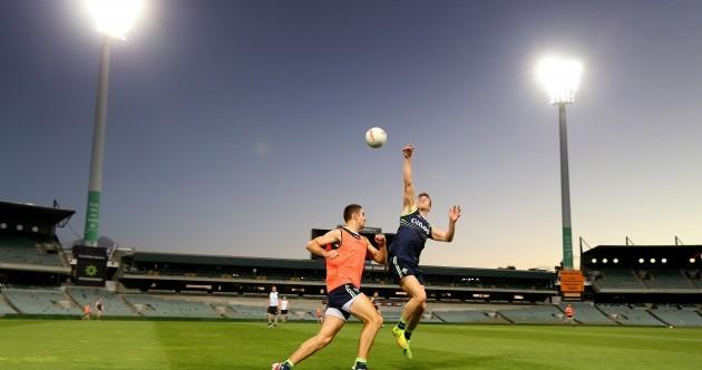 Irish International Rules team hit the bright lights of Perth before Saturday's test