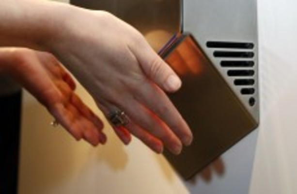 Turns out that hand dryers can spread bacteria