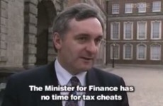 Check out this clip of Bertie Ahern talking about tax cheats in 1993