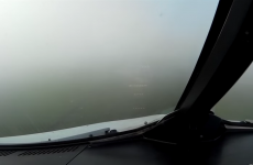 Amazing cockpit video from a plane landing in thick fog at Dublin Airport