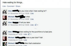 This is the most impressively dedicated Facebook joke you'll see today