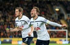 Last-gasp Eriksen strike sees Spurs past 10-man Hull