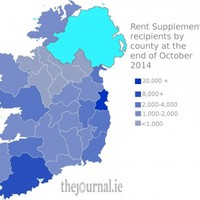 Here's a breakdown of how many people get rent supplement - county by county