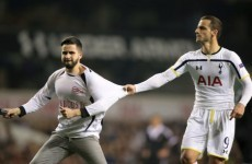 Spurs' Europa League game was thrown into disarray after three first half pitch invasions