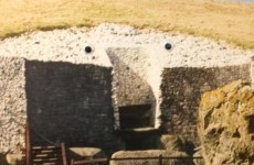 Someone added googly eyes to Newgrange at Dublin Airport