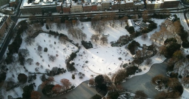 Grand mild out, isn't it? ... Well, here's what Dublin looked like --- four years ago