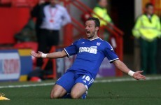 Noel Hunt comes off the bench to make Ipswich debut, scores 95th minute winner