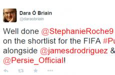 Twitter congratulates Stephanie Roche on making the Puskas Award final