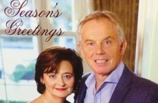 Tony Blair's odd Christmas card given the vicious Twitter treatment