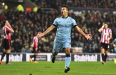 A typically sublime bit of magic from Sergio Aguero got City back in the game tonight