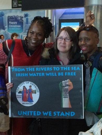 Here's why some people have travelled from Detroit to join the water charges protest