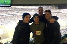 Rory McIlroy took in an NFL game with some Ulster rugby legends last night