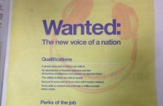 Today FM takes out full page ad looking for 'new voice of a nation'