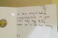 This little boy sent Brian O'Driscoll's new baby €2 of his pocket money