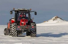 Dutch woman reaches the South Pole on a Massey Ferguson tractor