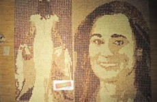 Bit of crumpet: Artist depicts Pippa Middleton in toast mosaic