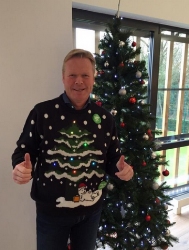 Ronald Koeman is ready for the 12 pubs in this horrific Christmas jumper