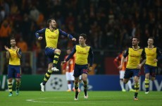 Ramsey struck an absolute screamer as Arsenal swept past Galatasaray tonight